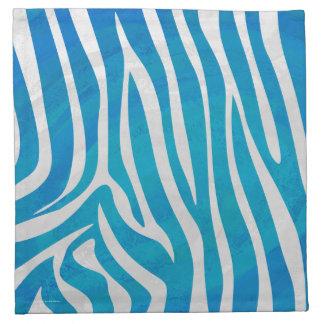 Impresión azul y blanca de la cebra servilleta imprimida
