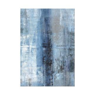 Impresión azul y gris de la lona de arte abstracto impresiones en lona estiradas