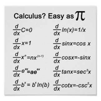 Impresión básica del cálculo póster