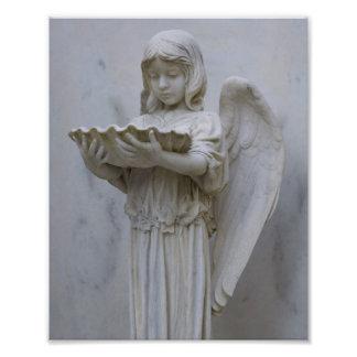 Impresión bautismal de la foto 8x10 del ángel cojinete