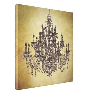 Impresión beige del arte de la lona de la lámpara  impresion de lienzo