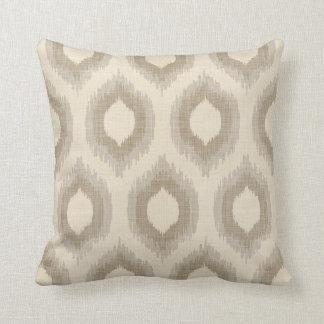 Impresión beige y de color topo de lino rústica de cojín