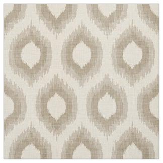 Impresión beige y de color topo de lino rústica de telas