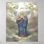 Impresión bendecida del Virgen María Póster
