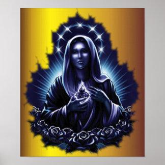 Impresión bendecida púrpura del Virgen María Impresiones