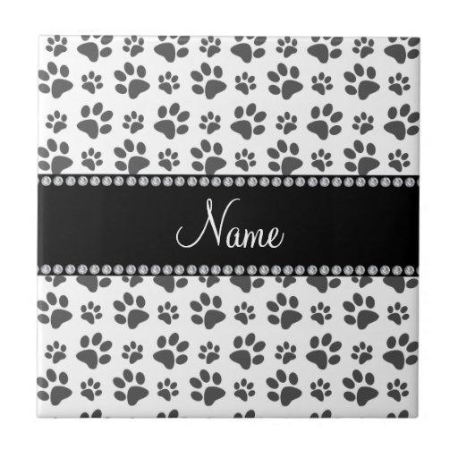Impresión blanca conocida personalizada de la pata teja cerámica