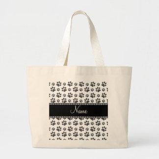 Impresión blanca conocida personalizada de la pata bolsa de mano
