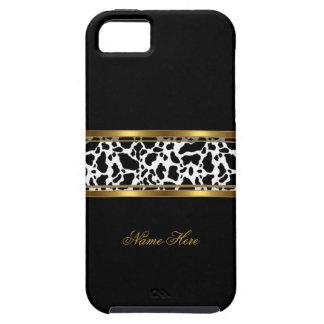 impresión blanca de la vaca del negro con clase funda para iPhone SE/5/5s