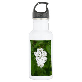 Impresión blanca de los flores de la lila de la