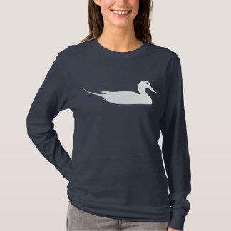 Impresión blanca del pájaro del pato del pato playera