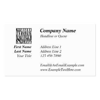 Impresión blanca del tigre. Modelo del tigre Tarjetas De Visita