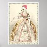Impresión blanca del traje del caniche de Marie An Posters