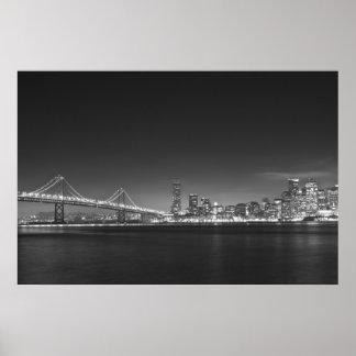 Impresión blanca negra de San Francisco del puente Impresiones