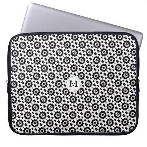 Impresión blanco y negro: Caja del ordenador portá Fundas Computadoras