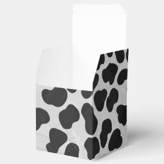 Impresión blanco y negro dálmata cajas para detalles de boda
