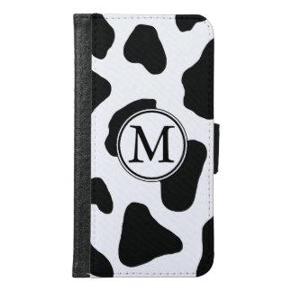 Impresión blanco y negro de la vaca con el