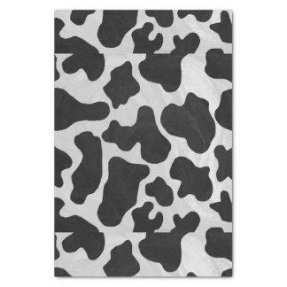 Impresión blanco y negro de la vaca papel de seda