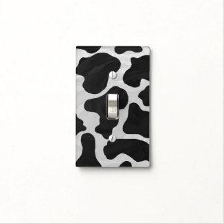 Impresión blanco y negro de la vaca placa para interruptor