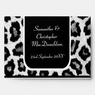 Impresión blanco y negro del leopardo o del sobre