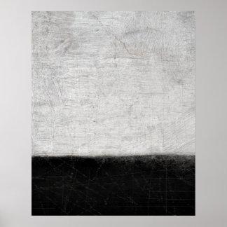 Impresión blanco y negro del poster del arte