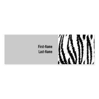 Impresión blanco y negro del tigre. Modelo del Tarjetas De Visita Mini