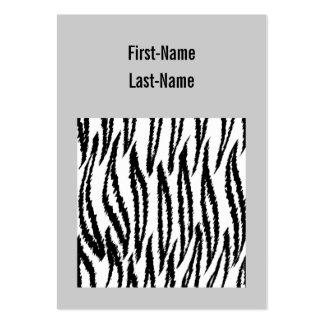 Impresión blanco y negro del tigre. Modelo del Tarjetas De Visita Grandes