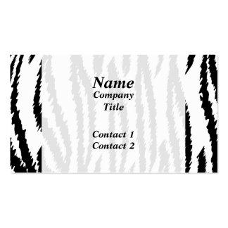Impresión blanco y negro del tigre. Modelo del Tarjetas De Visita