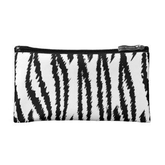 Impresión blanco y negro del tigre. Modelo del tig