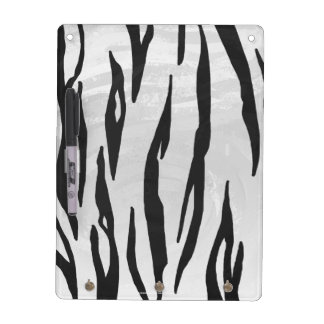 Impresión blanco y negro del tigre tableros blancos