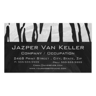 Impresión blanco y negro del tigre plantillas de tarjetas de visita