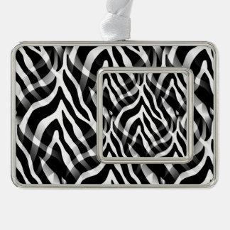 Impresión blanco y negro elegante de las rayas de adornos con foto