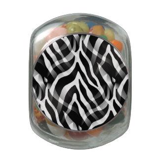 Impresión blanco y negro elegante de las rayas de jarrones cristal