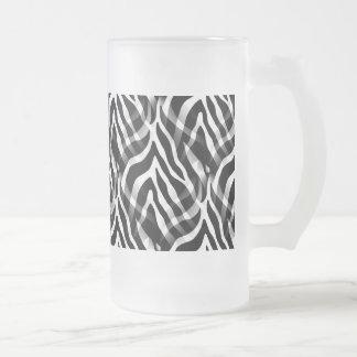 Impresión blanco y negro elegante de las rayas de taza de cristal