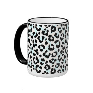 Impresión blanco y negro elegante del guepardo taza de dos colores