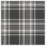 Impresión blanco y negro real del tartán de telas