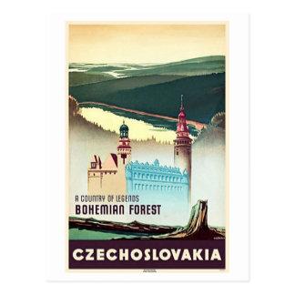 Impresión bohemia del bosque de Checoslovaquia Tarjeta Postal
