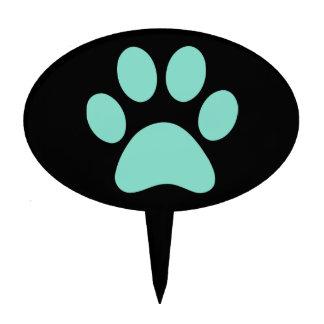 Impresión bonita de la pata del perrito figuras para tartas