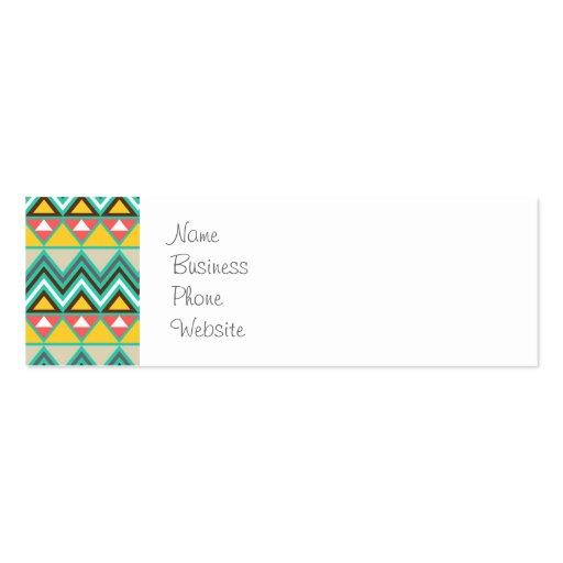Impresión bonita del nativo americano del rosa del tarjetas personales