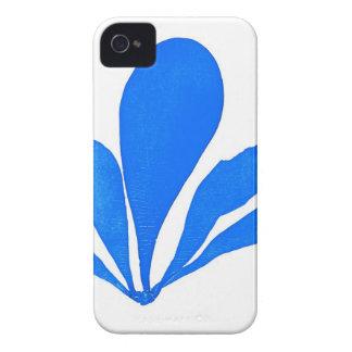 Impresión botánica costera de no. 11 azules de la  Case-Mate iPhone 4 coberturas