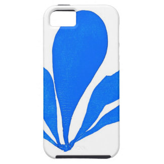 Impresión botánica costera de no. 11 azules de la  iPhone 5 Case-Mate cobertura