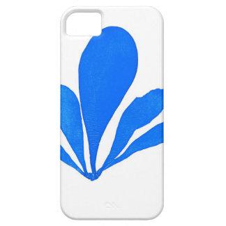 Impresión botánica costera de no. 11 azules de la  iPhone 5 carcasas