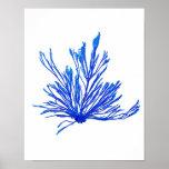 Impresión botánica costera de no. 1 azul de la imp posters