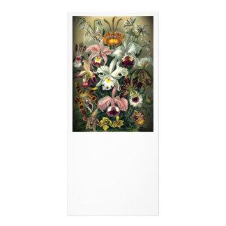 Impresión botánica de la orquídea del vintage tarjeta publicitaria personalizada