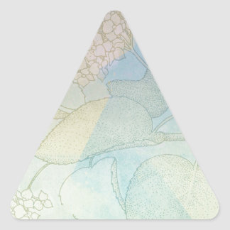 Impresión botánica II de la acuarela de la serie Pegatina Triangular