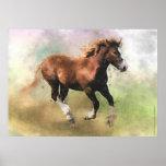 Impresión bretona del potro del caballo de proyect impresiones