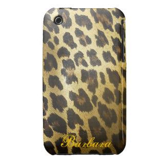 Impresión brillante de la piel del leopardo iPhone 3 cárcasa