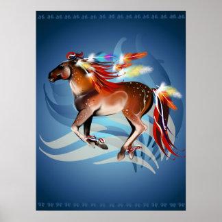 Impresión brillante de las plumas del caballo N Impresiones