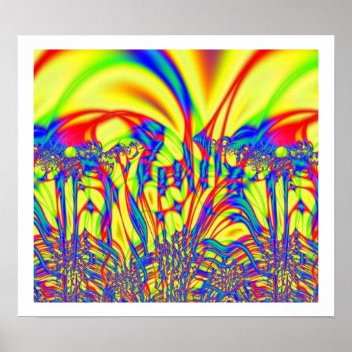 Impresión brillante del poster del fractal