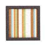 Impresión brillante elegante de la raya de la tela caja de joyas de calidad