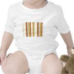 Impresión brillante elegante de la raya de la tela traje de bebé